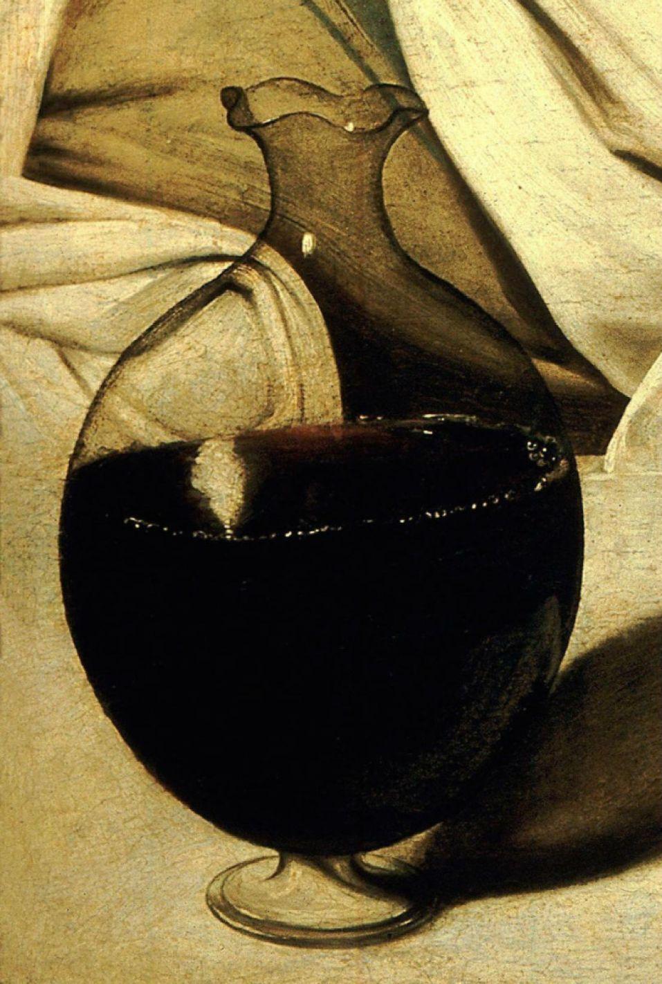 La jarra de Vino de Caravaggio