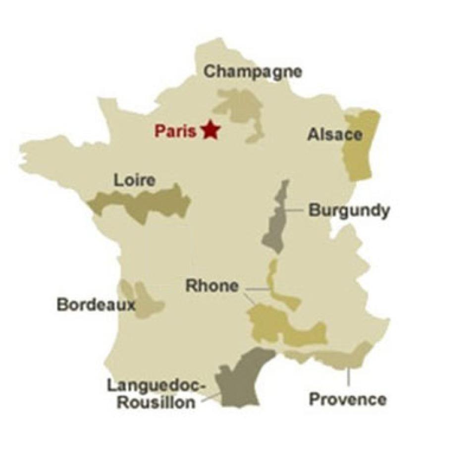 Principales regiones vitivinícolas de Francia