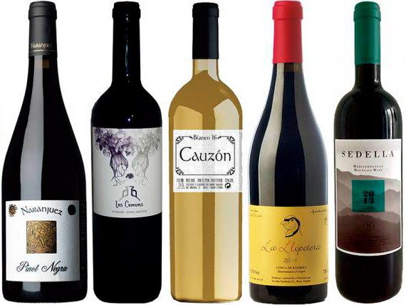 Variedad de vinos naturales